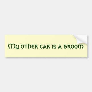 Min annan bil är en kvast bildekal