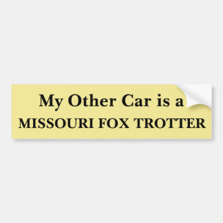 Min annan bil är en Missouri rävTrotter Bildekal