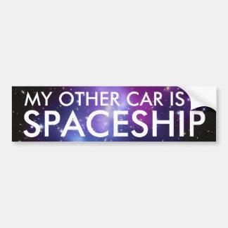 Min annan bil är en Spaceship Bildekal