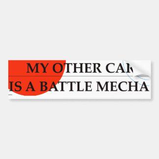 Min annan bil är en strid Mecha Bildekal