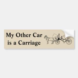 Min annan bil är en vagn bildekal