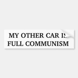 Min annan bil är full kommunism bildekal