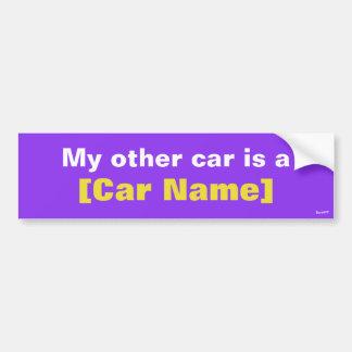 Min annan bil är…, (Lilor) Bildekal