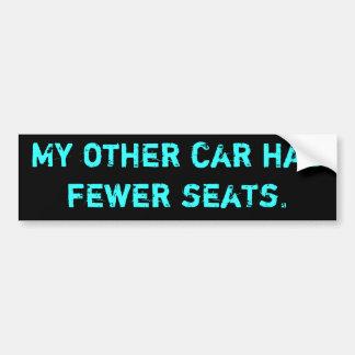Min annan bil har mer få platser bildekal