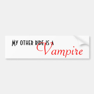 Min annan ritt är a, vampyr bildekal