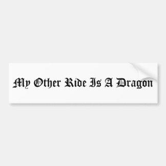 Min annan ritt är en drake bildekal
