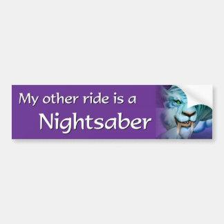 Min annan ritt är en Nightsaber Bildekal