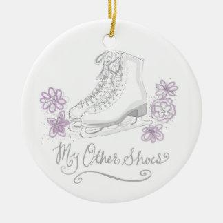 Min annat skor konståkningprydnaden julgransprydnad keramik