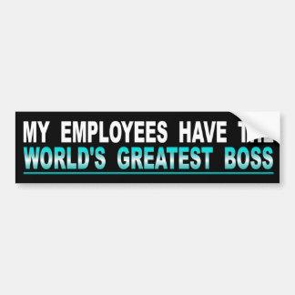 Min anställda har världsmästarechefen bildekal
