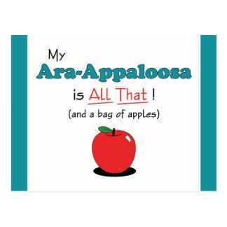 Min Ara-Appaloosa är all det! Rolig häst Vykort