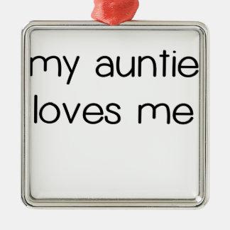 Min Auntie Älska Me.png Julgransprydnad Metall