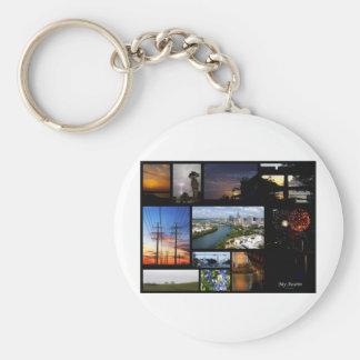 Min Austin Collage av James R Granberry Rund Nyckelring