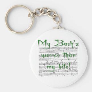 Min Bachs som är värre än min bita! Rund Nyckelring