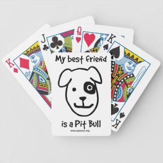 Min bästa vän är en pitbull spelkort