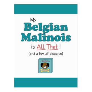 Min belgiska Malinois är all det! Vykort
