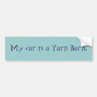 Min bil är en garnBarn. Bildekal