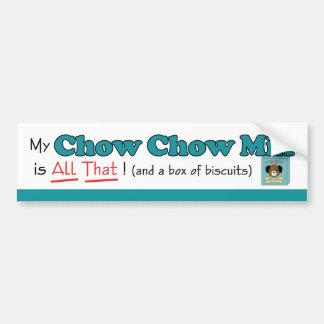 Min blandning för ChowChow är all det! Bildekal