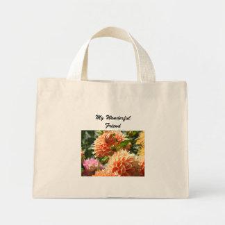 Min blomma för Dahlia för underbar väntote bags Tygkassar