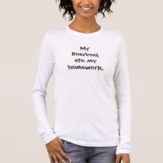 Min Boerboel åt min läxaT-tröja Tshirts