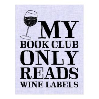 Min bokklubb läser endast vinetikettvykortet vykort