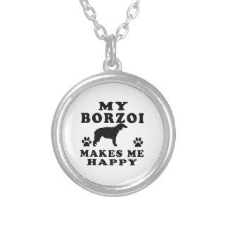Min Borzoi gör mig lycklig Anpassningsbar Halsband