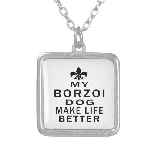 Min Borzoihund gör liv bättre Personliga Halsband