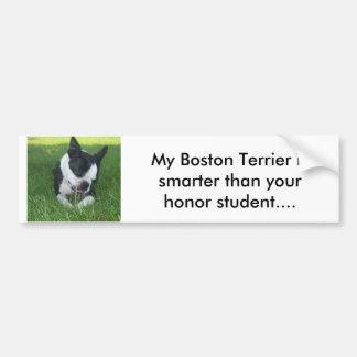Min Boston Terrier är mer smart än din heder S. Bildekal
