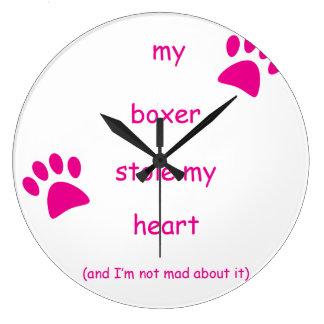 Min boxare stal min hjärta stor klocka