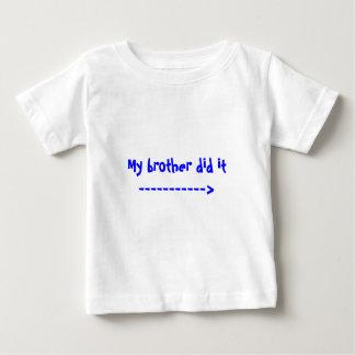 Min broder gjorde det -----------> tee