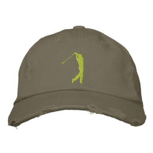 Min broderade bekymrade hatt för sport Golf
