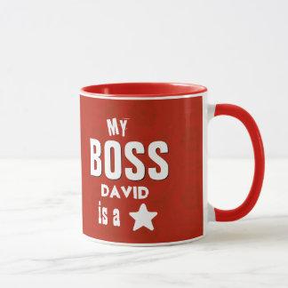 Min chef är ett rött stjärnaanpassningsbarnamn V05 Mugg