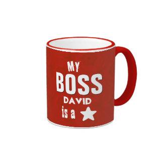 Min chef är ett rött stjärnaanpassningsbarnamn V05 Ringer Mugg