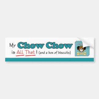 Min ChowChow är all det! Bildekal