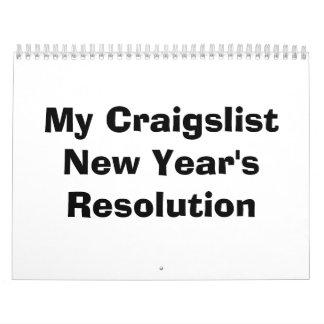 Min Craigslist nytt års upplösning Kalender