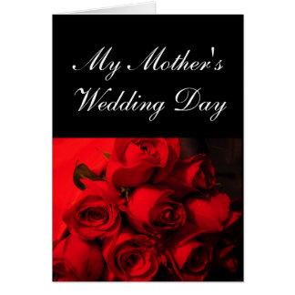 """""""Min Crimson ro för mödrarbröllopsdag"""" - [a] Hälsningskort"""