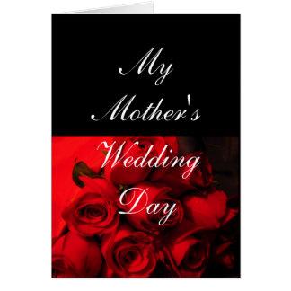 """""""Min Crimson ro för mödrarbröllopsdag"""" - [b] Hälsningskort"""