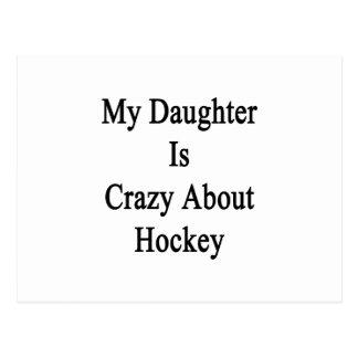 Min dotter är galen om hockey vykort