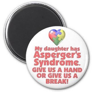 Min dotter har Aspergers Magnet Rund 5.7 Cm