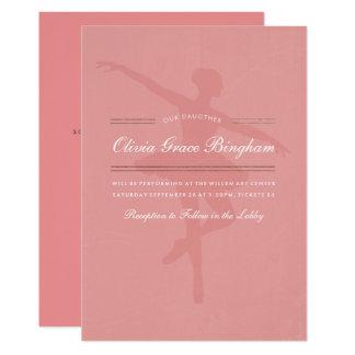Min dotters högläsning för dansbalett 12,7 x 17,8 cm inbjudningskort