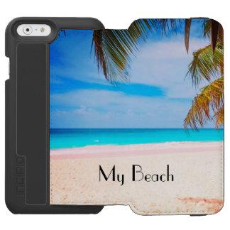 Min dröm- strand, den tropiska stranden beskådar