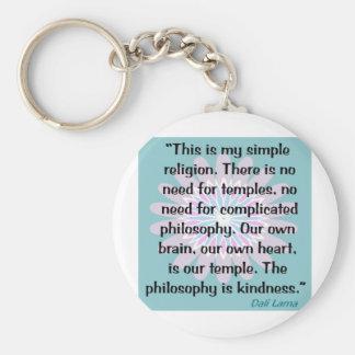 Min enkla religion rund nyckelring