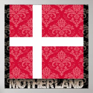 Min fädernesland Danmark Print