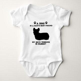 Min familj för skyeterrier, din hund, precis som tee shirt