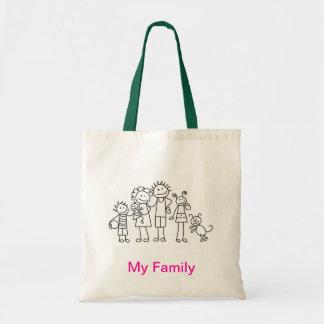 """Min """"familj"""" hänger lös budget tygkasse"""
