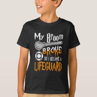 Min fattiga kvast så blev jag en livräddare tee shirts