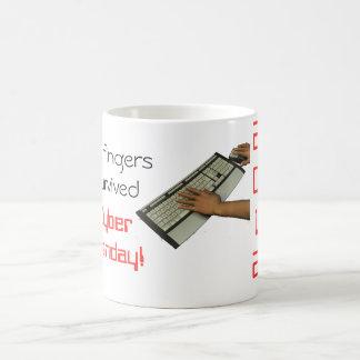 Min fingrar överlevde cyberen Måndag Kaffemugg