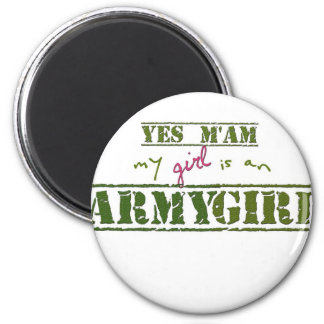 Min flicka är en arméflicka magnet
