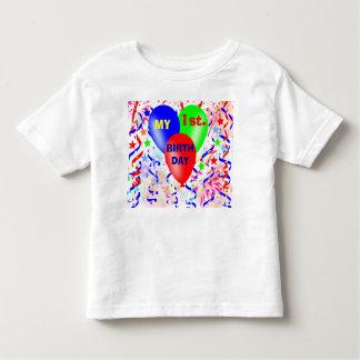 min första födelsedag, födelsedagsfest tee shirt