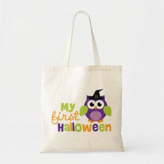 Min första Halloween häxauggla Budget Tygkasse