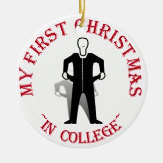 Min första jul i högskola julgransprydnad keramik